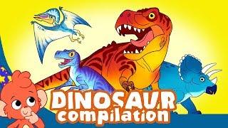 Çocuk | Dinozorlar öğrenmek için T-Rex Triceratops Dinozor Karikatür videoları korkunç dinasours | Club Baboo |