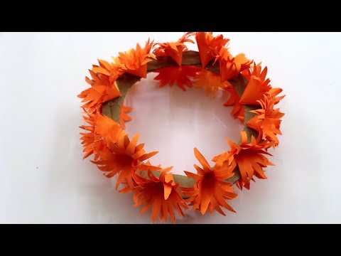 DIY Flower Crown - How To Make Round Flower | Easy paper Flowers Decoration Idea