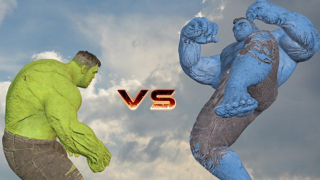 Hulk Vs Blue Hulk 2   Epic Fight   VFX Film
