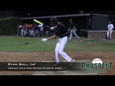 Ryan Ball Prospect Video, Inf, Trabuco Hills High School Class of 2020