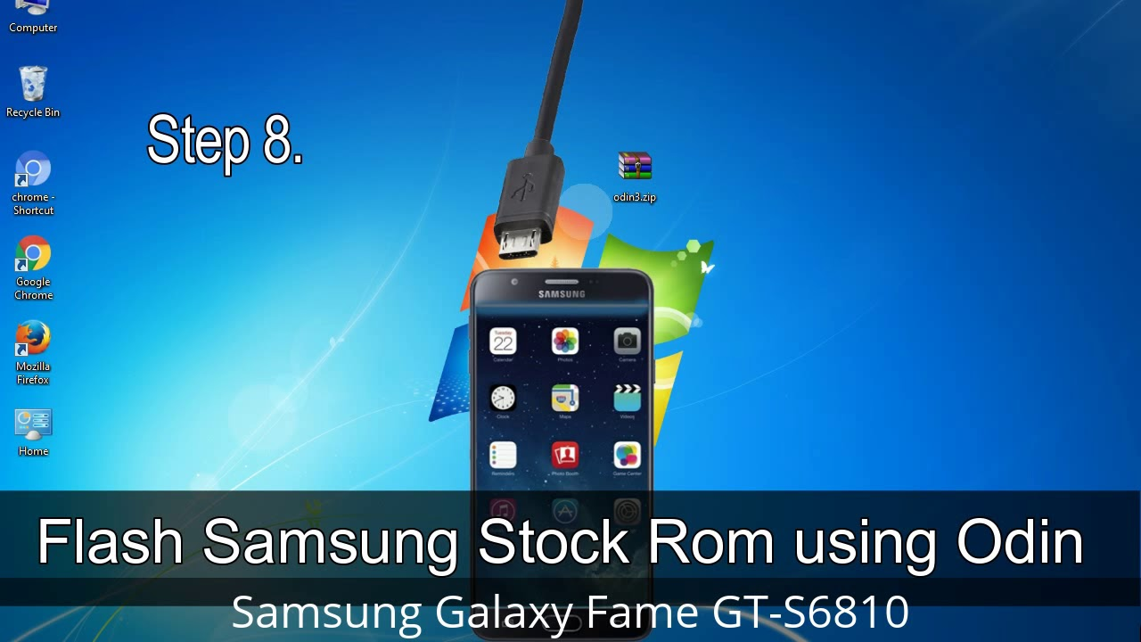 How to download photos from samsung galaxy fame to computer