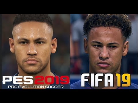 FIFA 19 vs PES 2019 Players Faces Comparison PSG