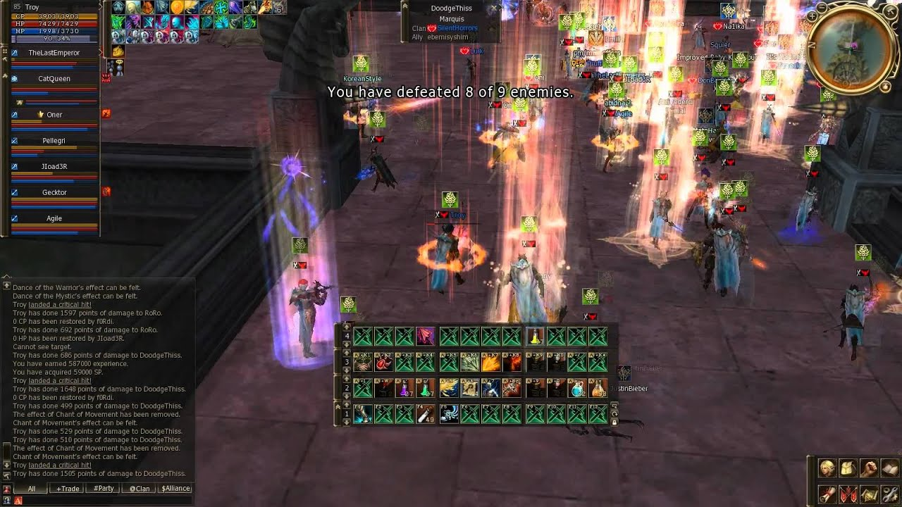 Lineage 2 Troy , TW  Sieges 09,10.07.11 part1