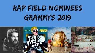 Rap Field Nominations | 61st Annual Grammy Awards (2019) #Grammys