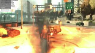 GTA 4 Powerful Moving Explosions (insane action)
