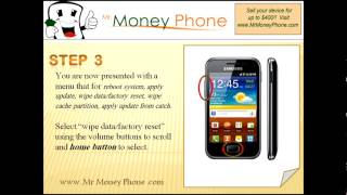 HARD RESET Samsung Galaxy Ace S5830 (external) Master Reset (RESTORE to FACTORY condition) Video(Up to $400 Cash for your old Phones -- http://www.MrMoneyPhone.com Learn to hard reset your SAMSUNG GALAXY ACE S5830 (EXTERNAL) with these easy ..., 2012-06-17T17:18:26.000Z)