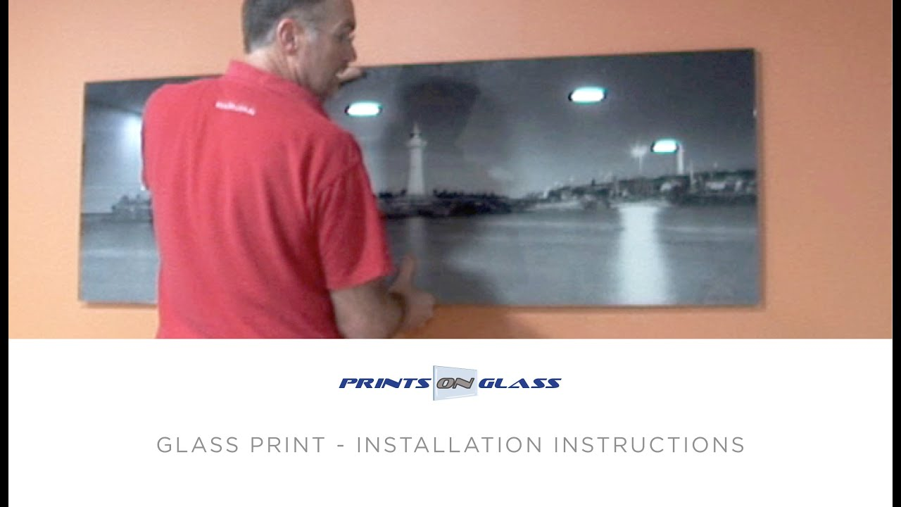 How To Hang A Wall Print Prints On Glass Youtube