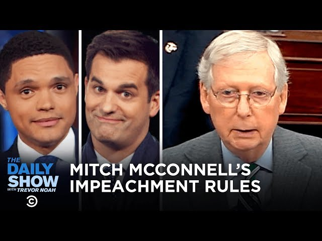 Mitch McConnell's Weird Impeachment Rules | The Daily Show