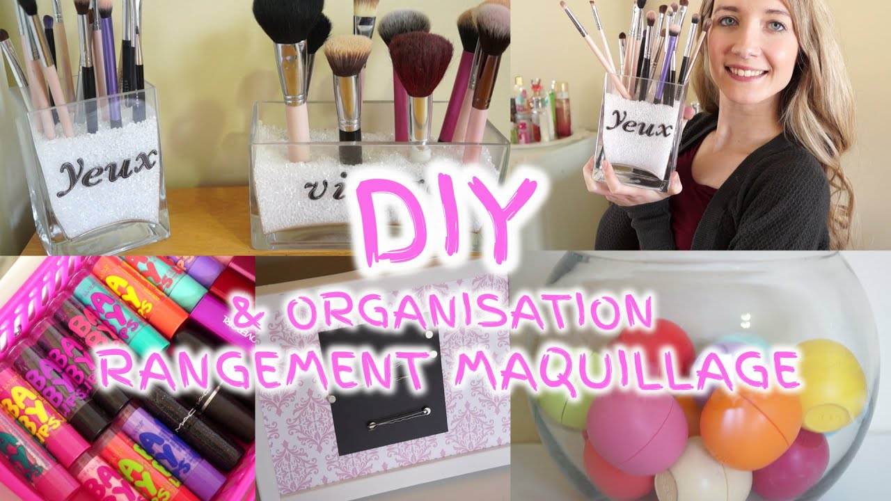 diy organisation rangement maquillage youtube. Black Bedroom Furniture Sets. Home Design Ideas