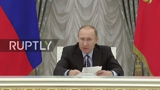 LIVE  Putin to chair fourth meeting of Russia's Council for Strategic Development