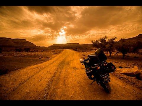 long   chinguetti morocco  mauritania   honda africa twin xrv  motorcycle youtube