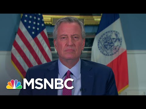 De Blasio: New Yorkers Should Be Proud Of How They've Responded To Crisis | Andrea Mitchell | MSNBC