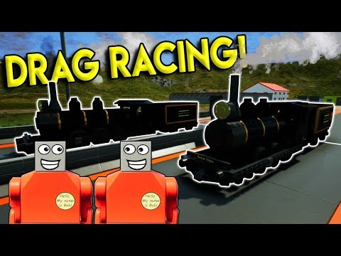 LEGO TRAIN DRAG RACING?!?! - Brick Rigs Multiplayer Challenge & Roleplay Gameplay - Lego Train Race