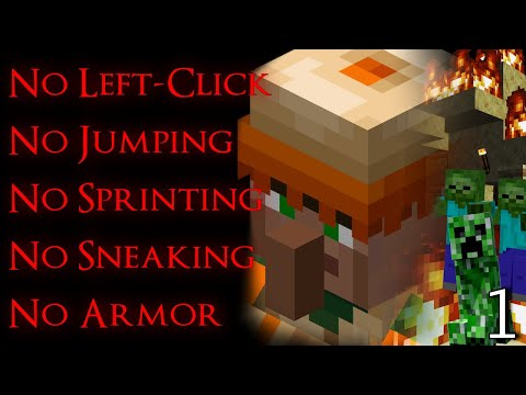 Can You Beat Minecraft With No Left-Click, No Armor, & Limited Movement?