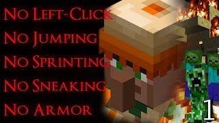 Can You Beat Mine¢raft With No Left-Click, No Armor, & Limited Movement?