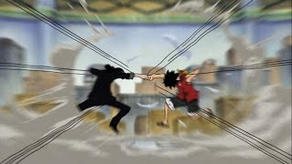AMV Rob Luccy vs Luffy