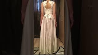 Атласное Свадебное платье Хельга