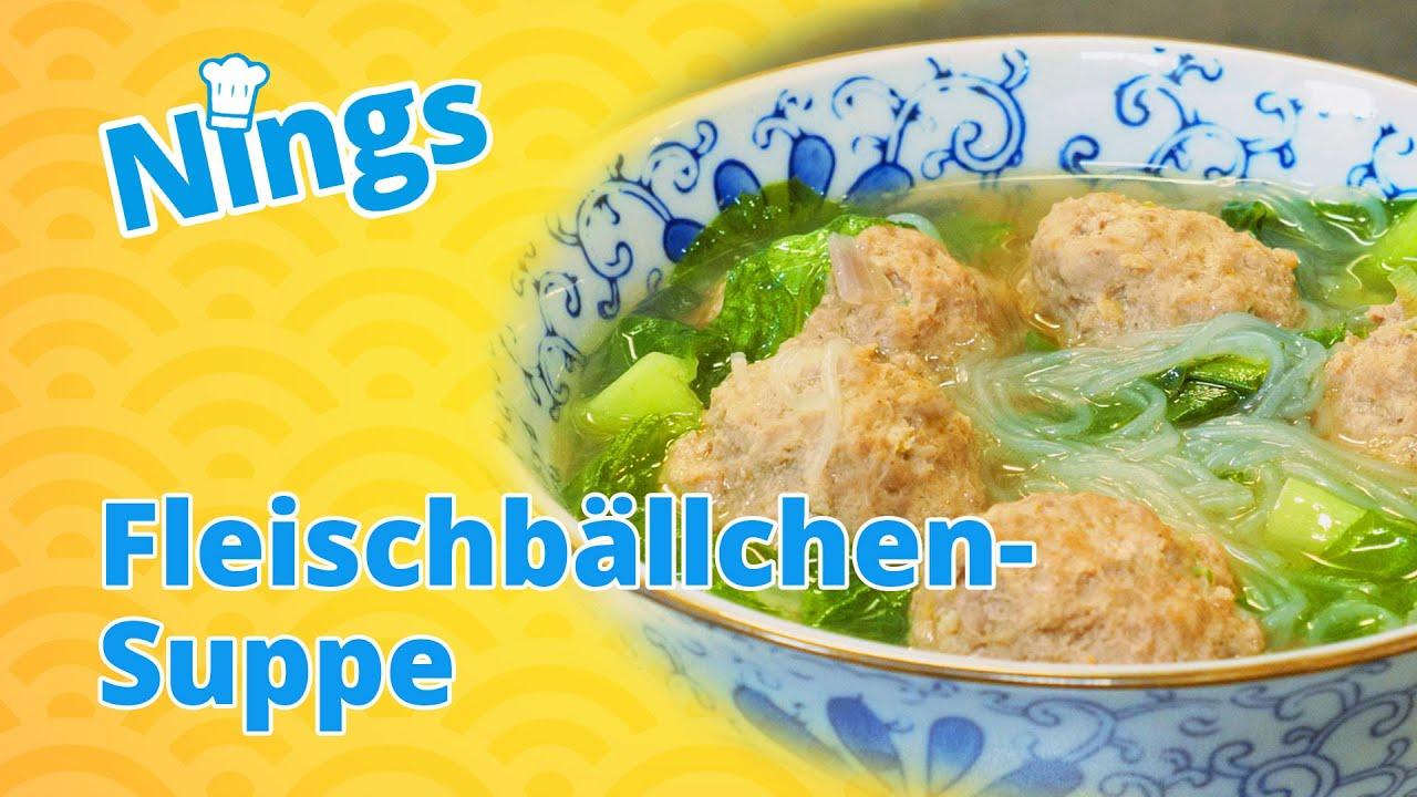 Lecker und leicht: Chinesische Fleischbällchen-Suppe