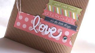 """Tutorial Mini Album Scrapbook """"Love"""" * Scraptools"""
