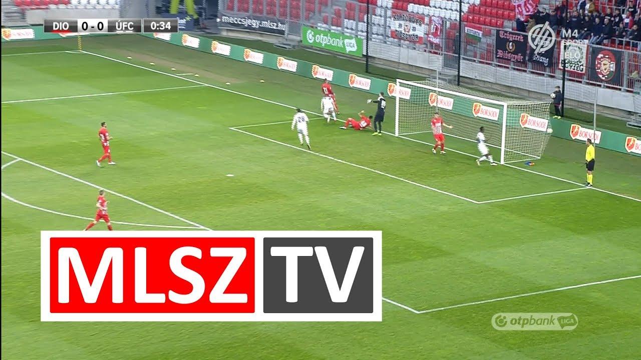 Novothny Soma Zsombor gólja a DVTK - Újpest FC mérkőzésen