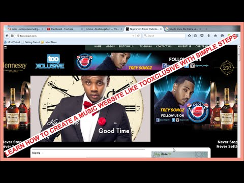 How to create a music website like tooXclusive -1 - Introduction