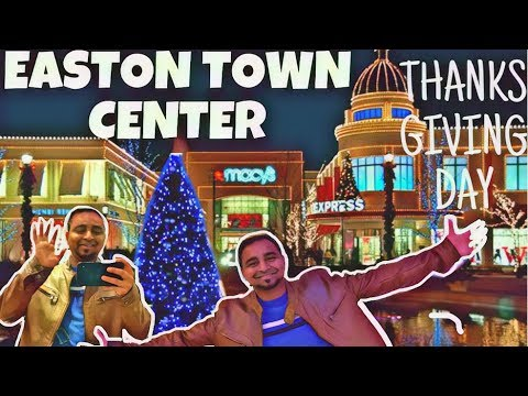 EASTON TOWN CENTER MALL| THANKS GIVING DAY SHOPPING | OHIO | COLUMBUS | AMERICIA| US|CHRISTMAS