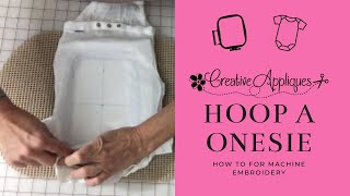 Hooping a onesie