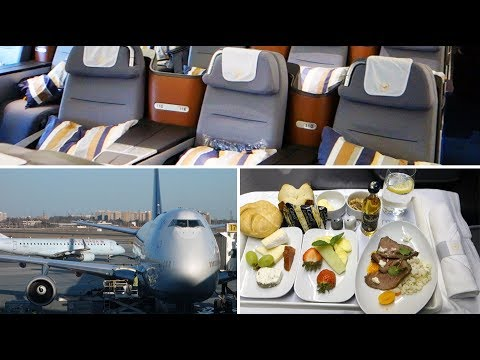 FANTASTIC ! Lufthansa B747-400 Business Class Toronto to Frankfurt [AirClips full flight series]