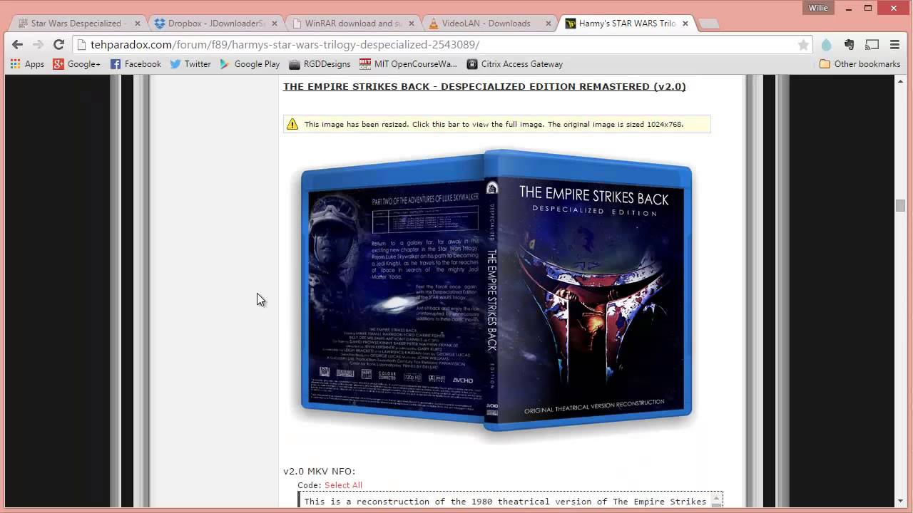 How To Download Star Wars Despecialized Editions