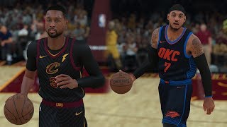 NBA on TNT | Cavs vs Thunder | Melo and D-Wade New Teams! | NBA 2K18 PC