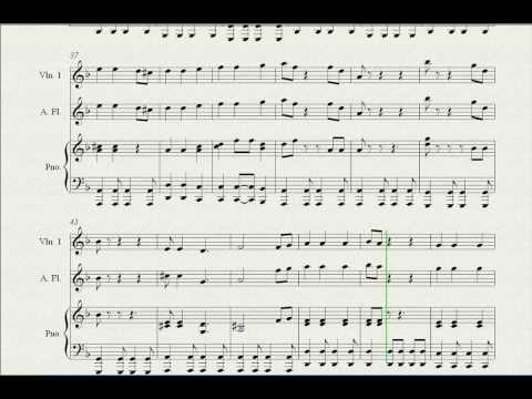 Sheet Music  Pirates of caribean hes a pirate Violin, recorder and piano
