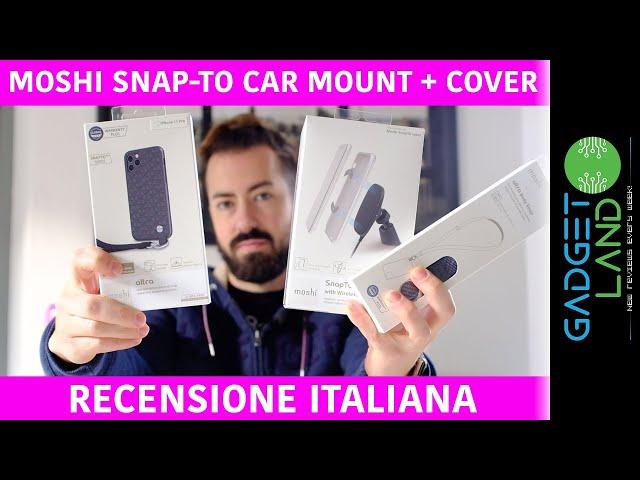 Recensione Moshi SnapTo Car Mount + cover Altra | Ricarica wireless Qi in auto a induzione iPhone 11