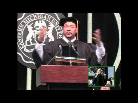 Charlie Batch gives EMU commencement address