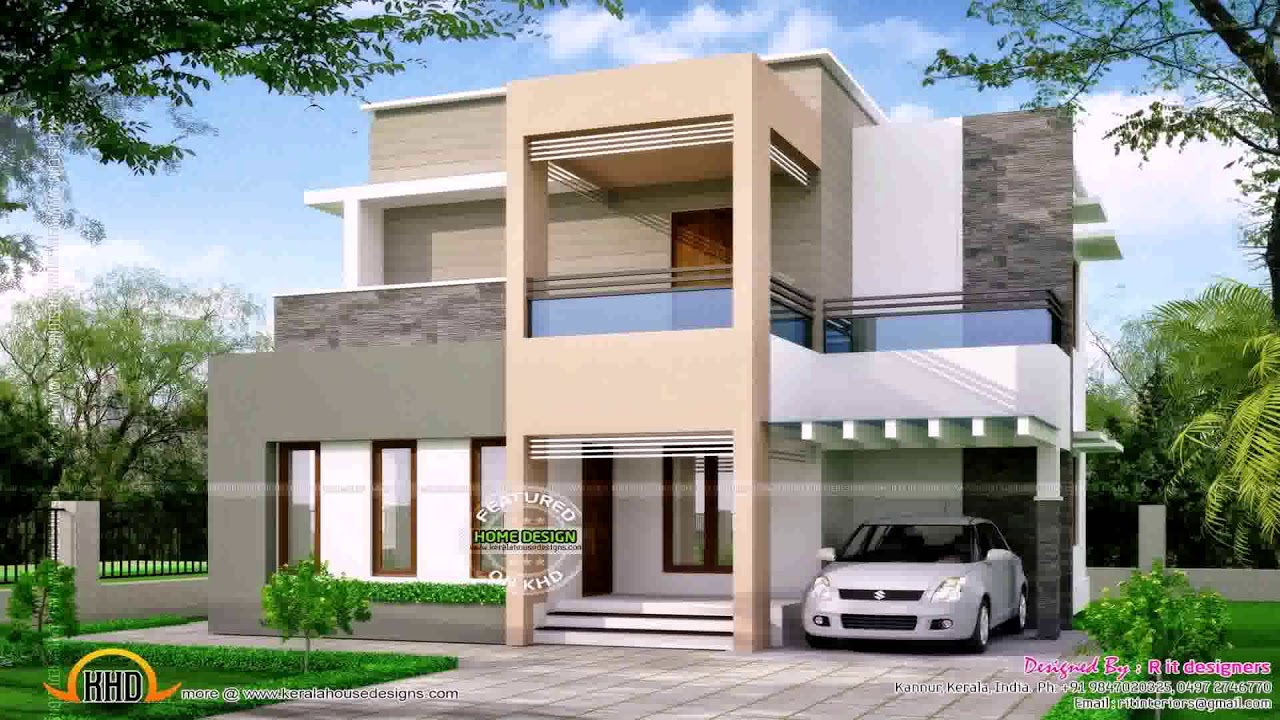 Duplex house plans in 200 sq yards east facing youtube for Types of slabs for house