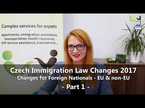 Czech Immigration Law Changes 2017 - Employee Cards and Business, part 1
