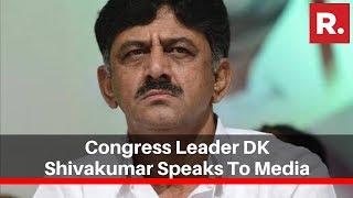 Congress Leader DK Shivakumar Speaks To Media, Concedes Karnataka Bypoll Election Defeat
