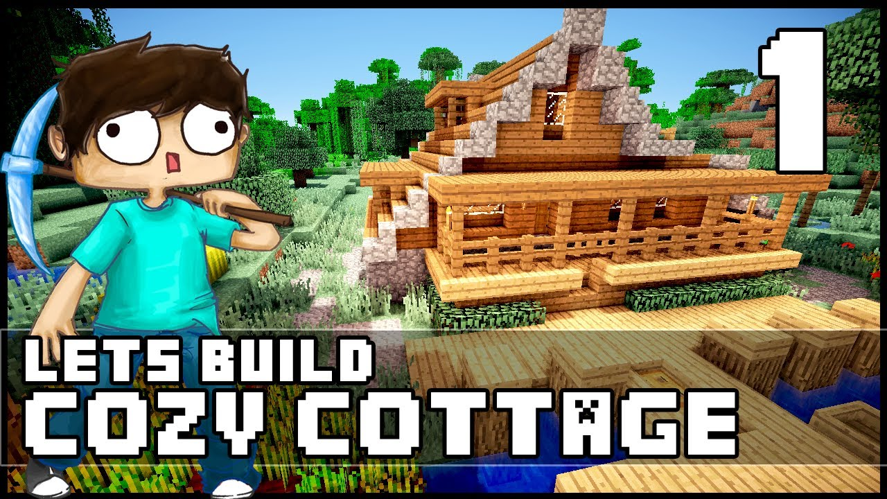 Minecraft How To Build a Cozy Cottage Part 1 YouTube