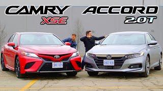 2019 Toyota Camry XSE vs Honda Accord 2.0 Touring // Battle For Best Mid-Size Sedan