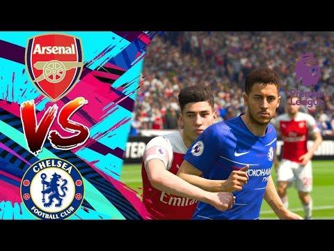 FIFA 19 Realistic | 🔥 Arsenal vs Chelsea Predict - EPL 19/1/2019 | Live Broadcast Camera