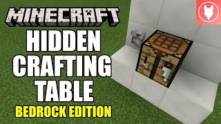 Minecraft Bedrock Hidden Pop Out Crafting Table Xbox Mcpe Windows 10 Switch Youtube