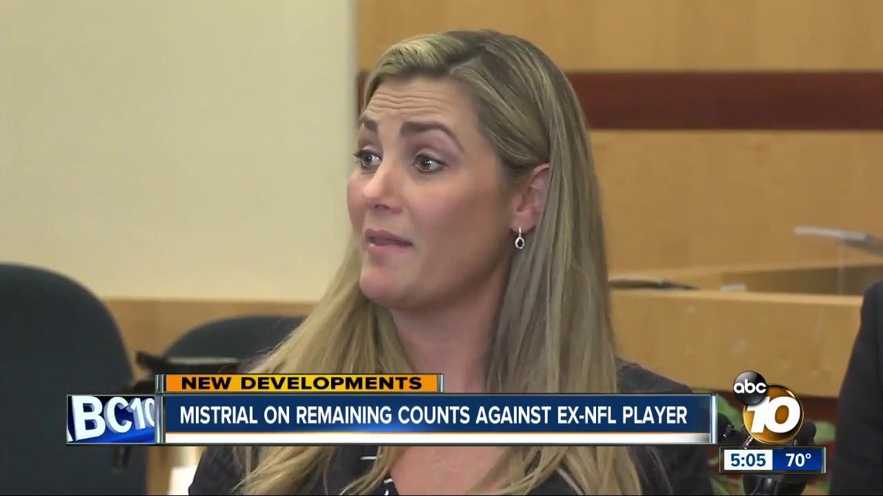 Mistrial declared for ex-NFL player Kellen Winslow on remaining rape counts