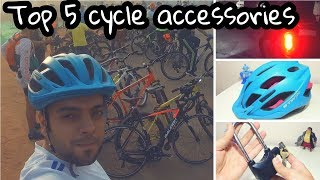 Top 5 Accessories every cyclist should have [HINDI]