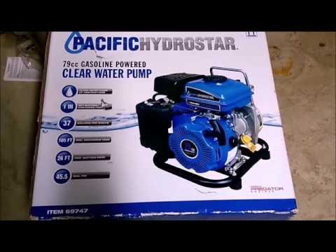 Harbor freight hydrostar 79cc gas powered water pump review