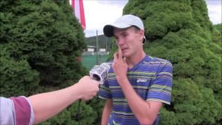 Vitalij Sačko po výhře v prvním kole na turnaji Futures v Ústí n. O.