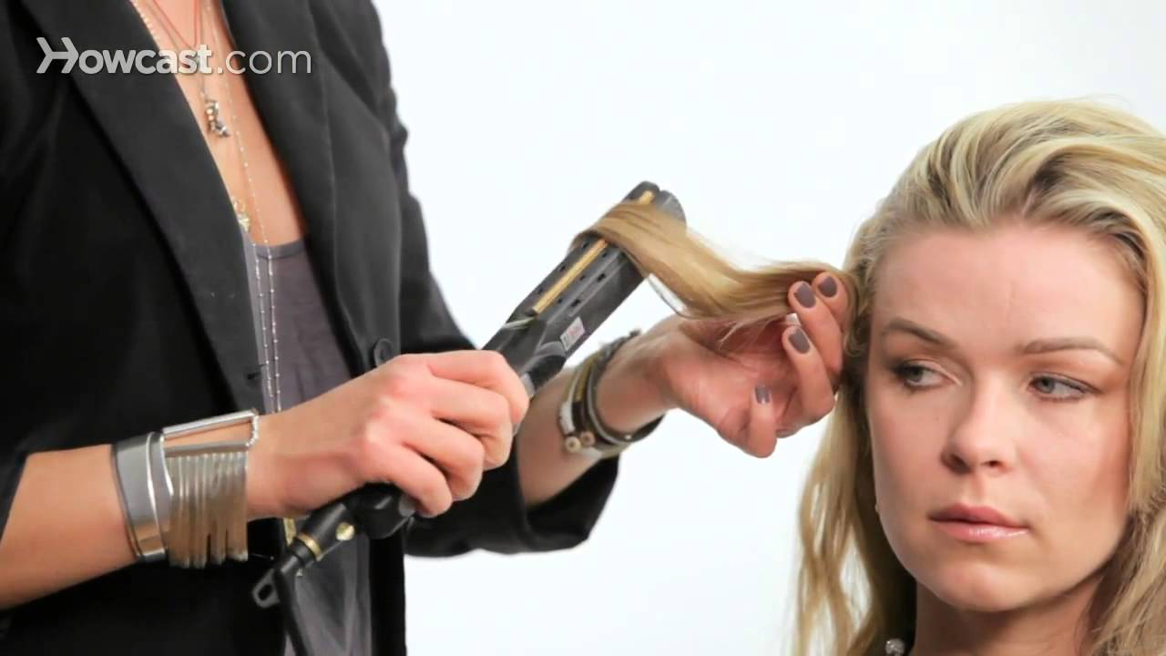 Curl Hair W Flat Iron For A Messy Look Cute Hairstyles Youtube