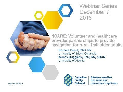 2016 12 07 NCARE: Volunteer and healthcare provider partnerships to provide navigation for rur