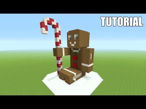 Minecraft Tutorial: How To Make A CHRISTMAS GINGERBREAD MAN!! (Survival House)