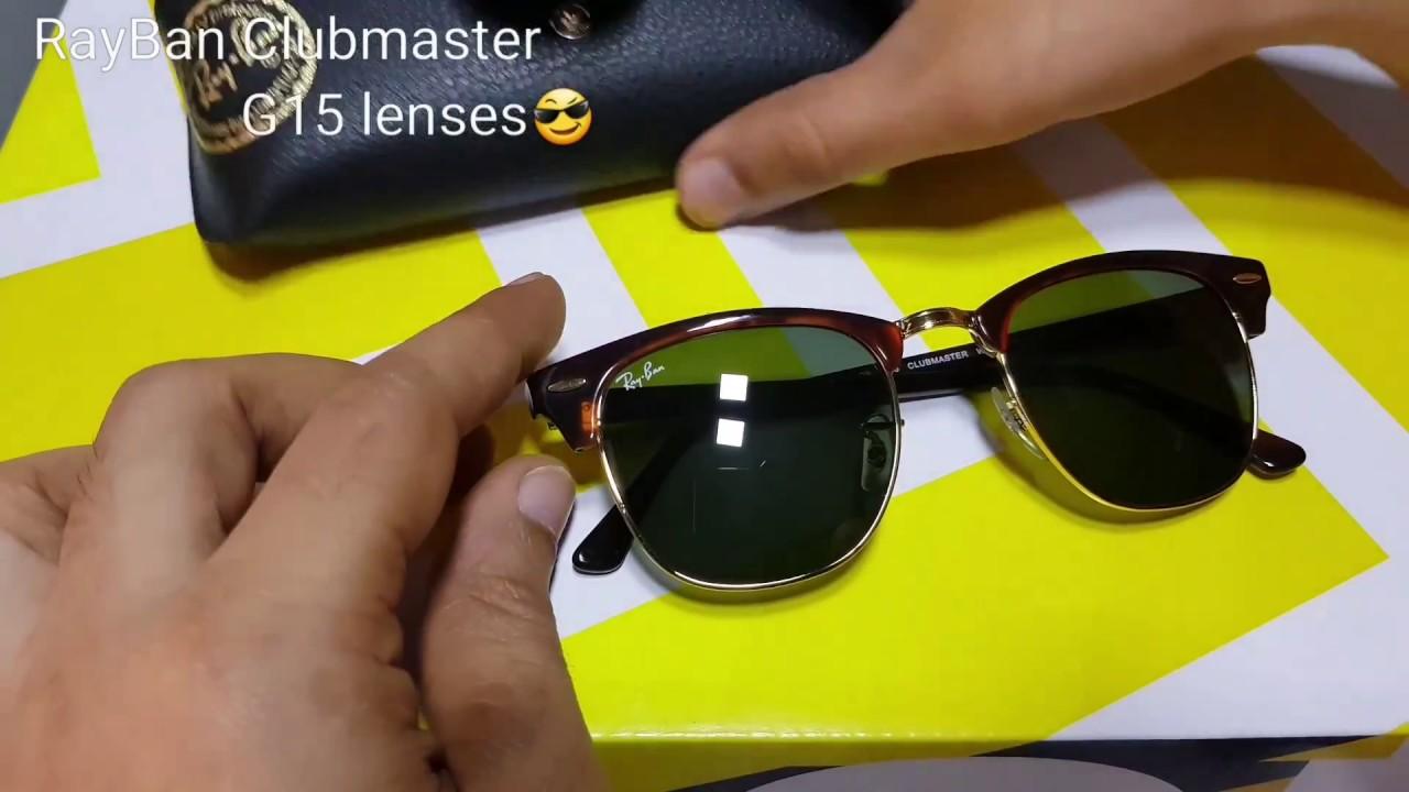8e60ce19086f1 Rayban Clubmaster G15 Lenses - YouTube