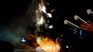 New Year 2012 Fireworks Marina Bay Singapore