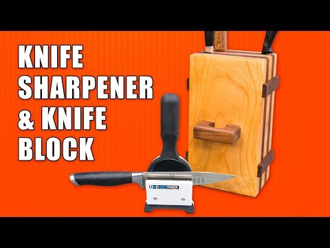 How to Make an Easy Knife Block & M-Power Knife Sharpener Review